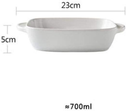 KOIYOI Bandeja Rectangular para Hornear Plato de cerámica ...