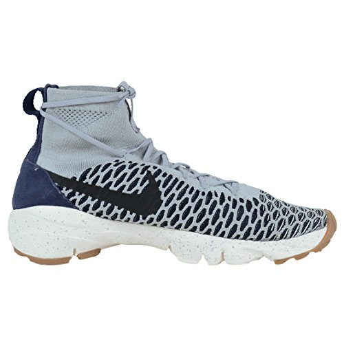 Nike Mens Air Footscape Magista Flyknit Scarpe Da Calcio Multicolore (lupo Grigio / Vela / Scuro Ossidiana / Nero)