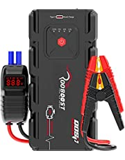 ROOBOOST™ 2000A Peak Ultra Safe Car Jump Starter (Up to 10L Gas or 8L Diesel), USB Quick Charge 3.0, Digital Smart Jumper Cable, Type-C In/Out Portable Power Bank, Built-in LED Light, 12V, QDSP Series, RB-2000