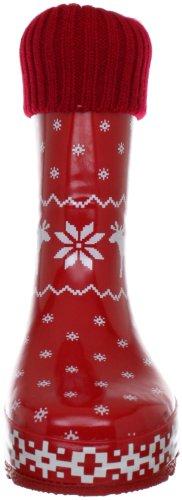 Playshoes Norweger gefüttert 189328 Mädchen Gummistiefel Rot (rot 8)