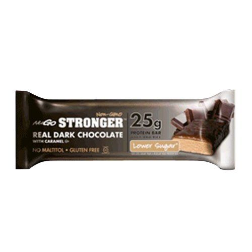 Nugo Nutrition Stronger Bar, Real Dark Chocolate with Caramel, 2.82 Ounce (Pack of 12)