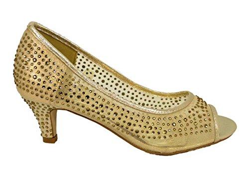 Pour 23 Femme CL218 Sandales Gold SKO'S ZAP4w8
