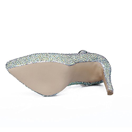 Heels Mujer Comfort High L Pu De Silver Zapatos yc Fall Para Spring heel Summer Casual Zxzq4F