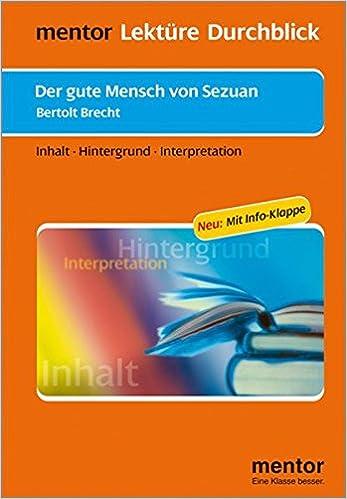 Bertolt Brecht Der Gute Mensch Von Sezuan Buch Mit Info Klappe