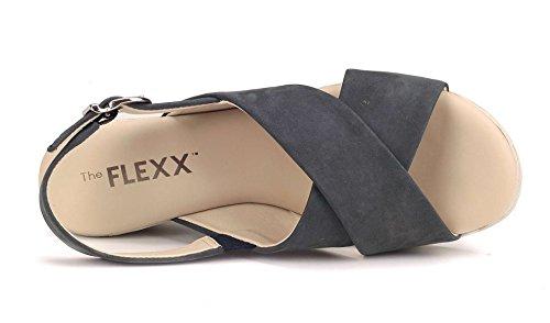 Zeppa The Ambiguous Donna Blu Navy Sandalo Flexx wzvq8BH
