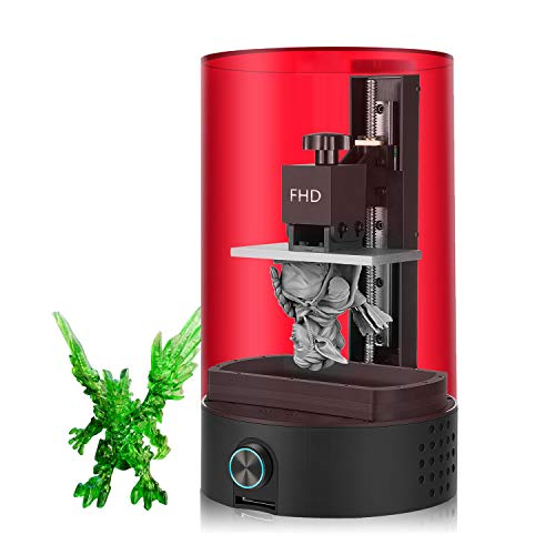 LCD 3D Printer, SparkMaker Upgraded FHD SLA 3D Printer 1080P Full HD High Resolution, UV Photocuring, Fully-Assembled, Larger Printer Size, One-Button Operation & Off-line Print