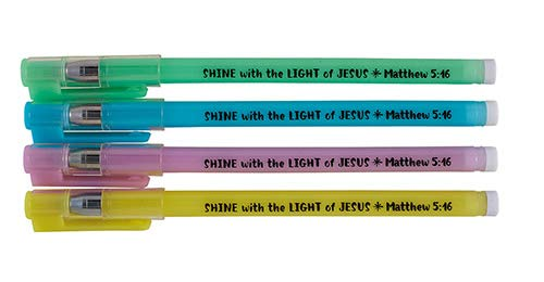 US Gifts Shine with The Light of Jesus Glow in The Dark Pen Assortment (4 Asst) - 36/pk by US Gifts (Image #2)