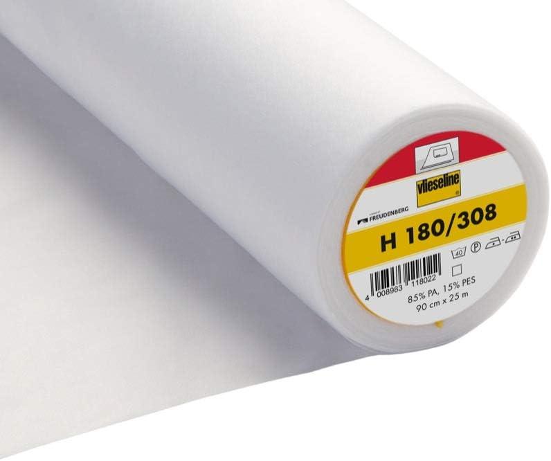 Entoilage thermocollant Vlieseline 3 Metres x 90xm Tr/ès doux et l/éger H180 308 White