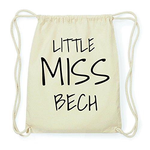 JOllify BECH Hipster Turnbeutel Tasche Rucksack aus Baumwolle - Farbe: natur Design: Little Miss