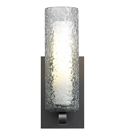 Lbl lighting hw623smsc2g wall lights with transparent smoke glass rolled in crystal shades nickel