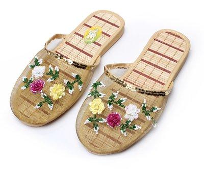 CWJDTXD Pantofole estive Pantofole piatte piatte piatte in mesh traspiranti e traspiranti estive con sandali femminili baotou e ciabatte da donna, 36, ricami in oro Ricamo Dorato