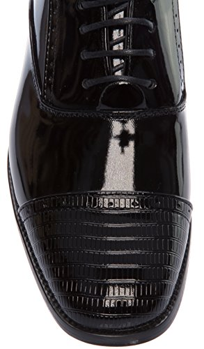 Alberto Fellini Mens Oxfords-chaussures À Lacets Derby Captoe Robe Chaussures Noir