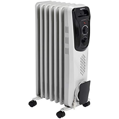 AmazonBasics Portable Radiator Heater, White (Amazon Hogar)