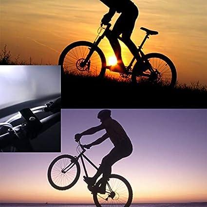 luz de Bicicleta Impermeable con 3 Modos ZHISIDA Luces de Bicicleta Recargables USB ultrabrillantes Faro Delantero de Bicicleta Luz de antorcha de Bicicleta Luces de Ciclismo