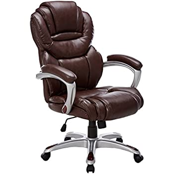 amazon com flash furniture high back brown leather executive swivel