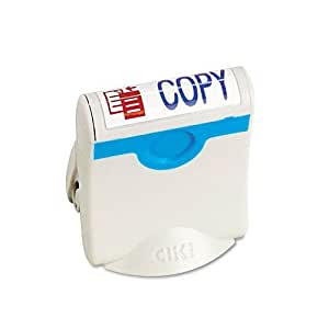 "U. S. Stamp & Sign Clik! Premium Two-Color Message Stamp, ""Copy,"" Pre-Ink/Re-Ink, Blue/Red (4705)"