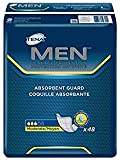 TENA MEN Tena Incontinence Guards For Men, Moderate Absorbency, 48 Count (1 Package)