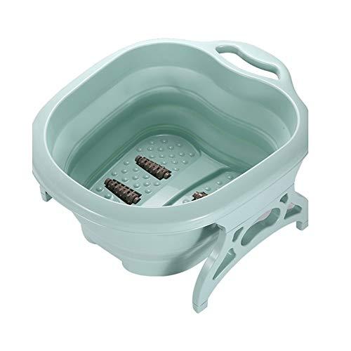 Folding Bucket, Foldable Footbath, Foot Bath Barrel Plastic, Foot Massage Bucket, Portable Adult Home Foot Bath, Olive Green (Color : Green, Size : 425022cm)