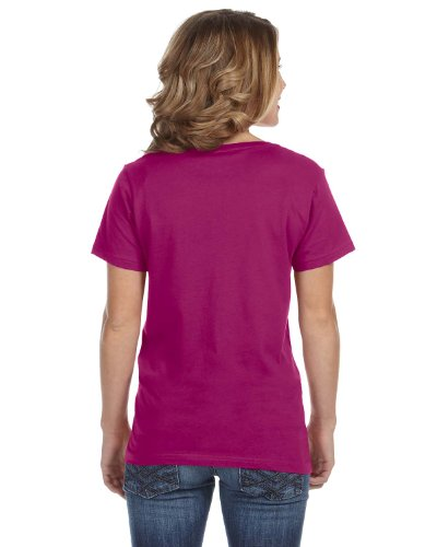 Anvil 392-Women's Featherweight V-Neck-Camiseta Rojo