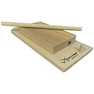 Eppicotispai EP-89 Garganelli and Gnocchi Stripper with Paddle, Natural Beechwood, Brown 13 Made of Beechwood Wooden paddle is the perfect item to curl your garganelli Wooden ridges provides traditional look to both your gnocchi and garganelli