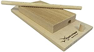 Eppicotispai EP-89 Garganelli and Gnocchi Stripper with Paddle, Natural Beechwood, Brown