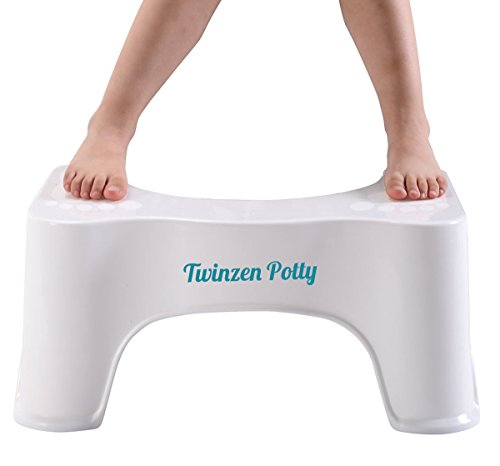 Twinzen Potty - Wc hocker Für eine bessere Haltung auf der Toilette für bequemere und gesündere Resultate, Von Gastroenterologen empfohlen - medizinischer toilettenhocker