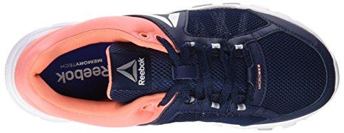 Reebok Bd4832, Zapatillas de Deporte para Mujer Azul (Azul (Collegi Nvy /     Stllar Pnk /     Wht /     Silver /     Grey)