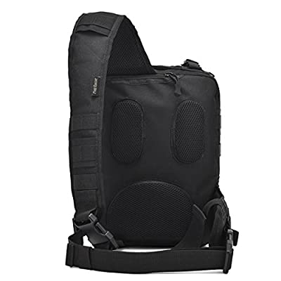 LASUAVY Tactical Sling Backpack Molle Assault Pack Rucksack Daypack Outdoors Camping Hiking Hunting - Black