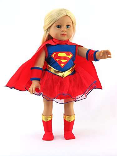 American Fashion World Super Girl Costume for 18-Inch Doll (Twin Girl Costumes)