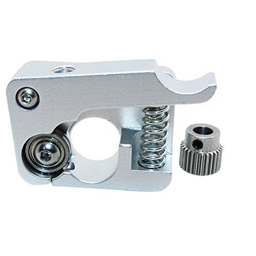 Redrex Aluminium Alliage Main Droite MK8 MK10 Extrudeuse 1,75 mm Filament Feeder 26 Dents Conducteur Engins Extrusion pour Makerbot Reprap Prusa i3 Rostock Kossel Imprimante 3D