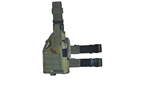 Large Tactical Army Woodland Camo Pistol Handgun Holster