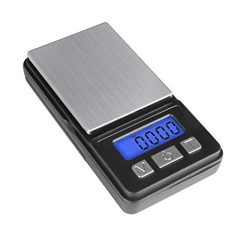 Fuzion Digital Pocket Gram Scale, 1000 G X 0.1 G Digital Scale, Mini Scale, Jewelry Scale, Portable Scale Battery Included, Black