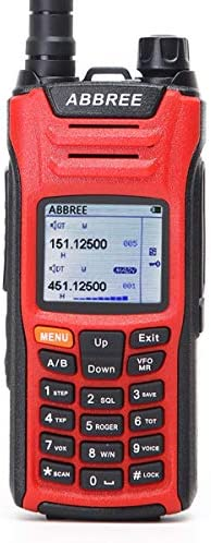 ABBREE AR-F6 6 Bands Display 999CH Multi-Functional VOX DTMF SOS LCD Color Screen Ham Two Way Radio Red