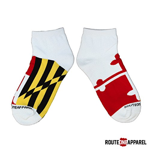 Route One Apparel | Unisex Maryland Flag Ankle Socks (Medium, - Route State 9