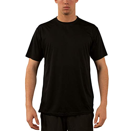 Vapor Apparel Men's UPF 50+ UV Sun Protection Performance Short Sleeve T-Shirt Large Black