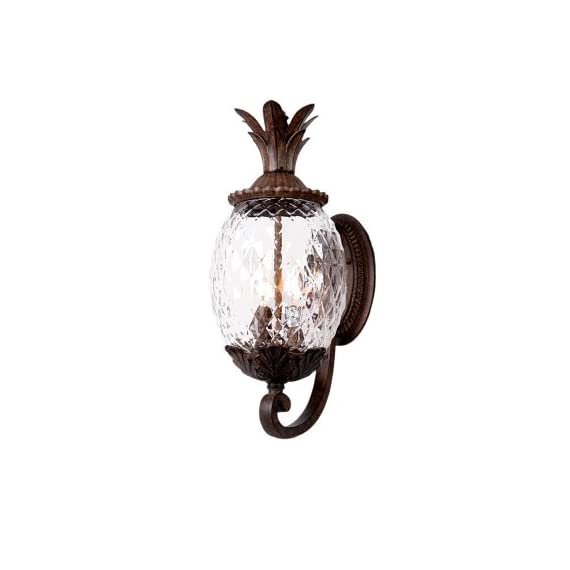 Acclaim 7511BC Lanai Collection 3-Light Wall Mount Outdoor Light Fixture, Black Coral - Three Light Outdoor Wall Mount from the Lanai collection Style: Leaf, Flower, Fruit Light Type: Exterior Wall Mount Finish: Black Coral - patio, outdoor-lights, outdoor-decor - 41sGzyehGZL. SS570  -