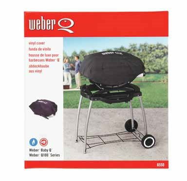 """Weber Grill Cover 26.5"""" X 17.75"""" X 9.75"""" Fits Weber Baby Q And Weber Q100 Series Grills Vinyl"""