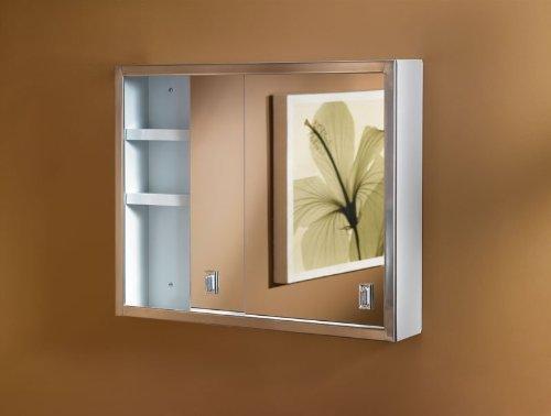 Framed Medicine Metal Cabinet (Jensen B704850 Contempora Medicine Cabinet, 24-Inch by 19-Inch, Stainless Steel)