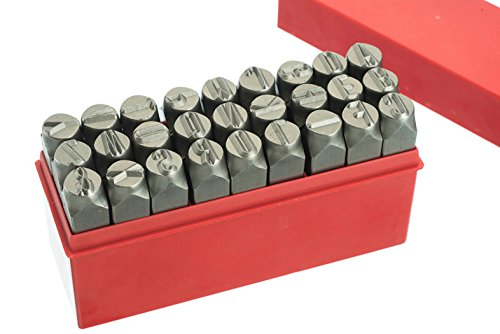 1/2'' 12.5MM Letter Punch Stamp Set Metal-Steel-Hand-Gold Bars A-ZBIG SIZE - For Serial Numbers-Names-Product codes-Trailers-Tool Boxes by Make Your Own Gold Bars
