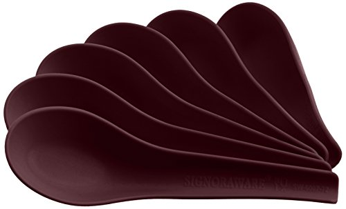 Signoraware Soup Spoon Set, Set of 6, Maroon