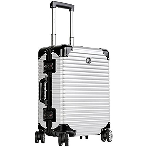 LANZZO Aluminum Magnesium Alloy Luggage with Spinner Wheels TSA Lock Approved Hardshell...