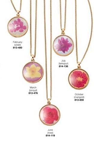 Birth Flower necklace Pendat July