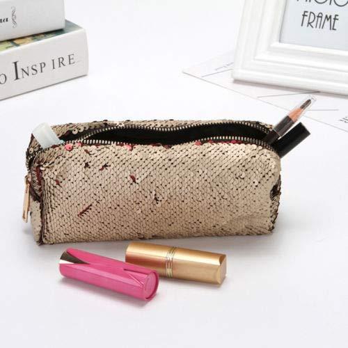 Women Glitter Mermaid Sequin Pencil Bag Coin Card Purse Pouch Makeup Case QP (Color - - Nylon Habitat Backpack