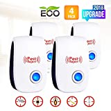 Ultrasonic Pest Repeller-2018 Electronic Mouse Pest Repellent Plug in Indoor Pest Control Mosquito Repellent for Roach, Spider, Ant, Rodent,Bedbugs, Fly, No Trap, Sprayer,Baits&Poison