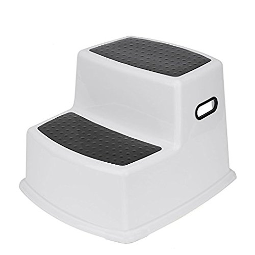 Lily Dual Height Step Stool for Kids (Black) by Lily Stores