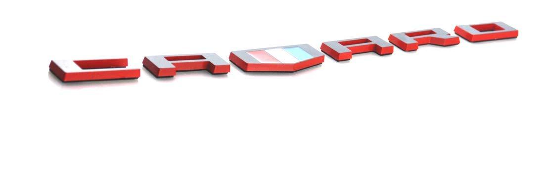 1x OEM Red Black CAMARO Letter Emblem 3D for Badge GM Zl1 SS Red line replace