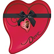 DOVE Extra Large Valentine's Assorted Chocolate Candy Heart Gift Box 14.9-Ounce 40-Piece Tin