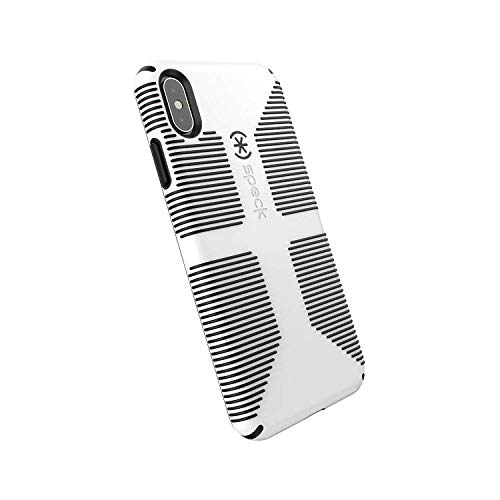 Case Protector Black Rubberized Shield (Speck Products CandyShell Grip iPhone Xs Max Case, White/Black)