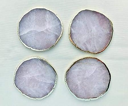 /Lot de 4/sous-verres Blanc Agate/