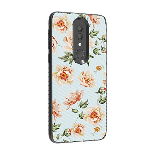 (TurtleArmor | Compatible for Alcatel Onyx Case | Slim Fitted Textured Embossed Lines Engraved Grooves Hybrid Hard Shell Case - Flower 3)
